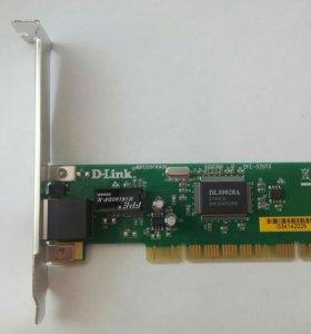 Сетевая карта DLink 100Мб