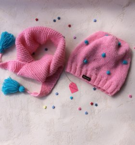 Детский комплект шапка шарф