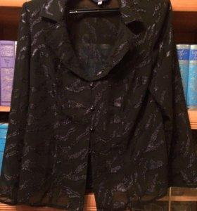 Легкая женская накидка-жакет 54 размер