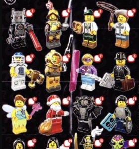 Лего минифигурки серия 8