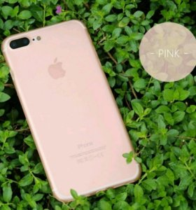 Розовый чехол на Айфон 7
