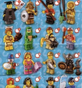 Лего минифигурки серия 5