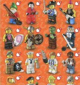 Лего минифигурки серия 4