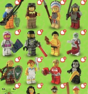 Лего минифигурки серия 3