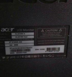 Монитор Acer 22 диаганаль