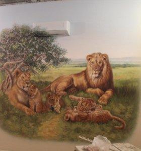 Художественная роспись стен и интерьеров