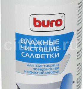 Влажные салфетки BURO BU-Tsurl, 100 шт.