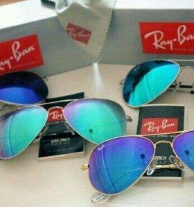 Солнцезащитные очки ray ban (рей бен) зеркальные
