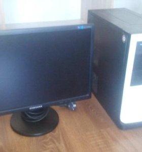 Компьютер с монитором.