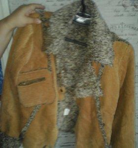 Велюровая куртка с мехом