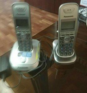 Телефон беспроводной Panasonic с доп. Трубкой