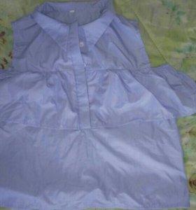 Блуза со спущенными руковами