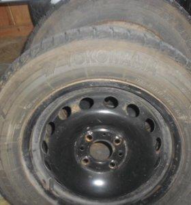 2 колеса липучки
