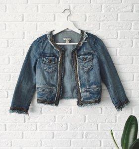 укороченная джинсовая куртка Mango