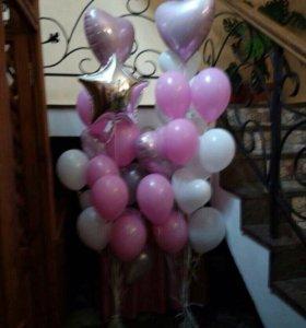 Фонтаны из шаров на день рождения принцессе