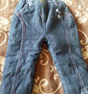 Теплые джинсы 86р