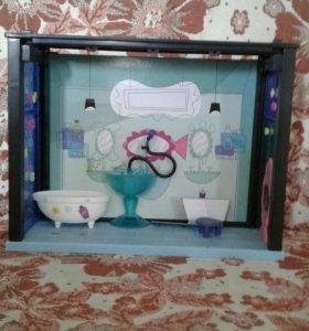 Ванная комната для петшопов с аксессуарами