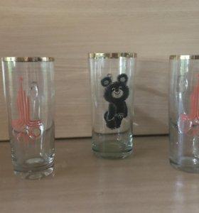 Продам бокал с олимпийским мишкой