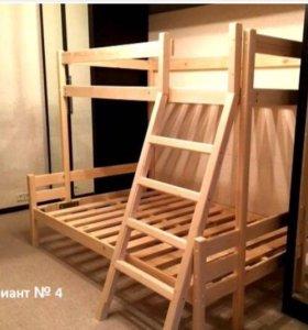 Кровать-чердак двуспальная