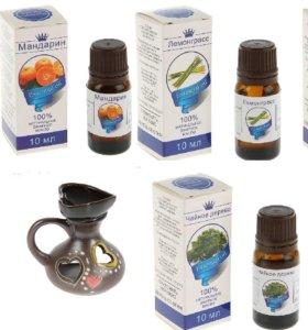 5х10мл.эфирное масло, аромамедальоны, лампы