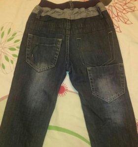 Детские утепленые джинсы на весну