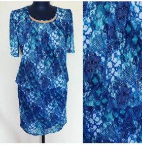 Шифоновое платье 50-54
