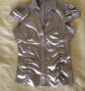 Серебристая блузка