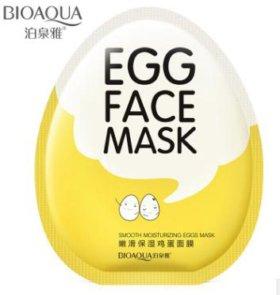 ХИТ ПРОДАЖ🐥Маска для лица тканевая Egg Face Mask