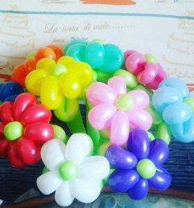 Ромашки из шаров 40 руб