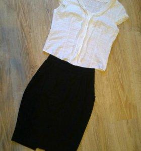 Комплект юбка и блуза