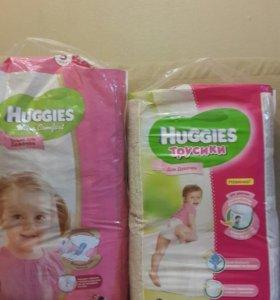Подгузники и трусики Haggies для девочек