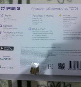 НОВЫЙ Планшетный компьютер Irbis TZ703