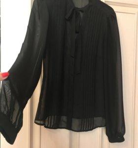 Чёрная шифоновая рубашка
