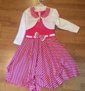 Костюм: платье + болеро. Новый
