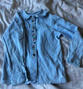 Рубашка джинсовая с вышивкой