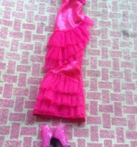 Платье и туфли для барби