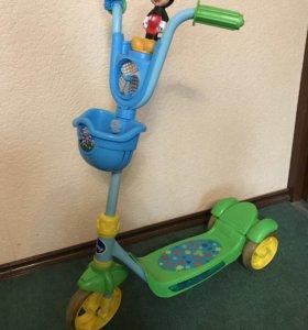 Самокат DIsney 3-х колесный Микки Маус