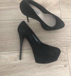 Туфли замшевые, размер 37