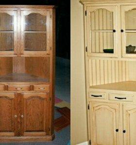 Фасады кухонные, мебельные. Реставрация