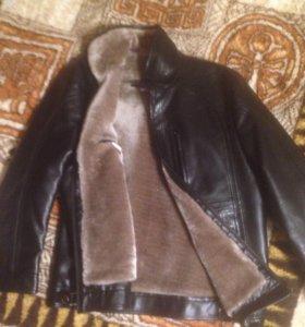Куртка кожа натуральная мужская зимняя