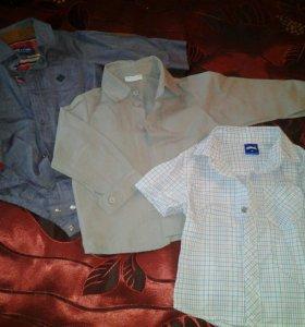 Рубашки на мальчика 80-86