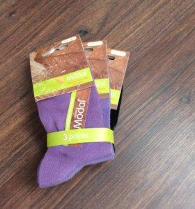 Носки на девочку три пары, размер 31-35