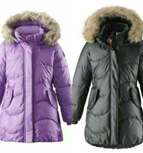 Пуховик/куртка/пальто Reima для девочки 128р