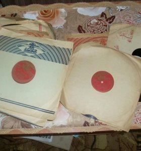 Советские колонки и виниловые пластинки