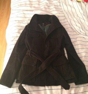 Пальто h&m приталенное