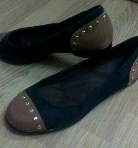 Туфли женские замшевые