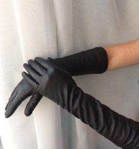 Кожаные перчатки натуральные