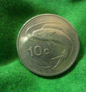 Монеты Мальта, Болгария, Чехословакия