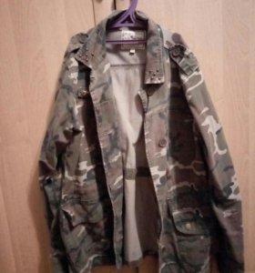 Джинсовая куртка размер L