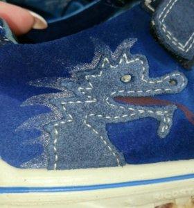 Ботинки кроссовки с драконом, дракон светиться ого